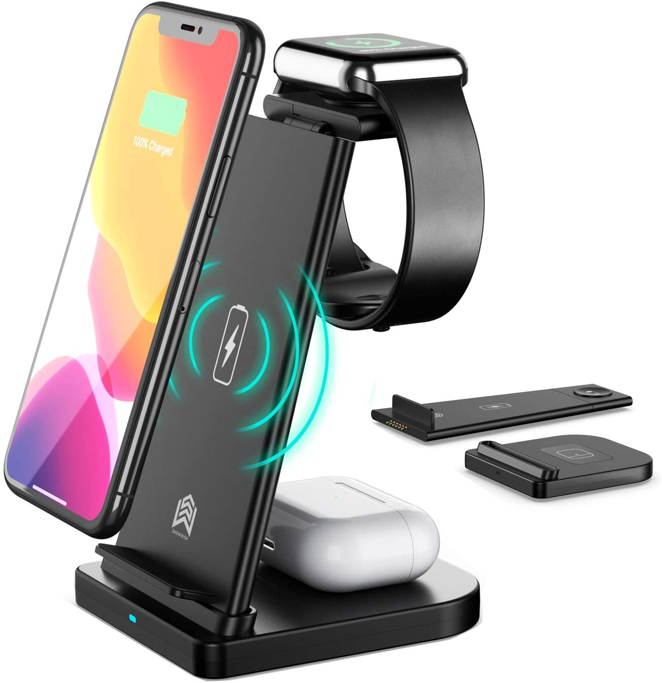 3 in 1 Qi-Certified Fast Wireless Charging Station Charger